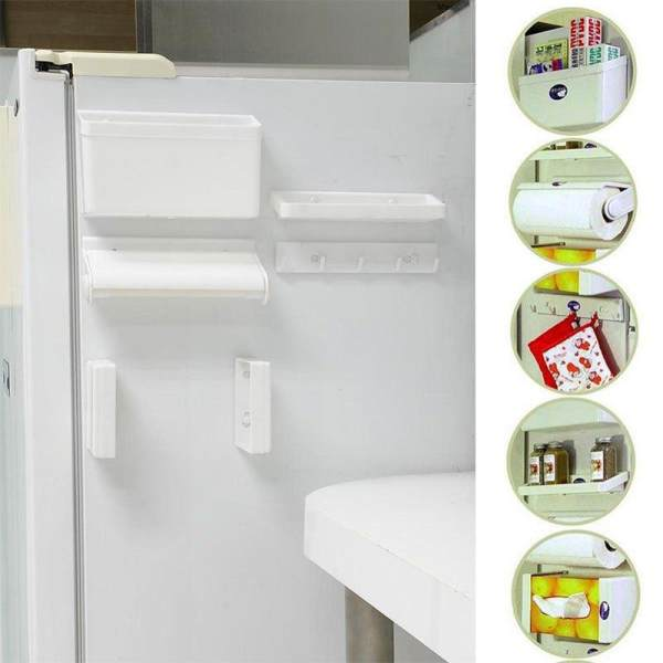 5 in 1 Multipurpose Magnetic Refrigerator Shelf - Kitchen Organizer - Kitchen Tools