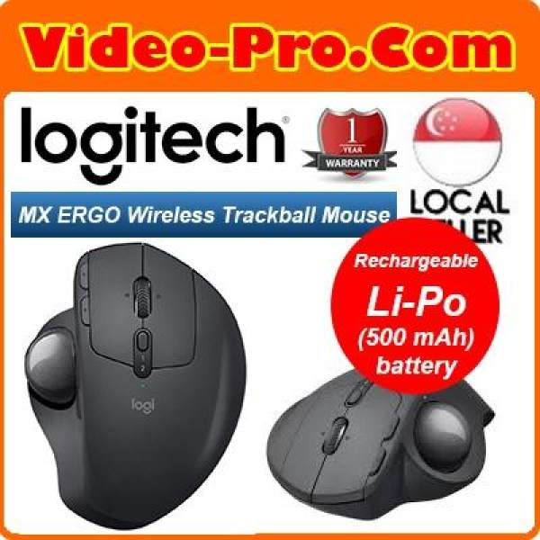 Logitech MX Ergo Advanced Wireless Trackball Mouse 910-005180 1 Year Local Warranty