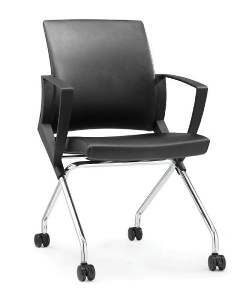 UMD PU Leather Foldable Chair Conference Room Chair Training Chair Office Chair K510