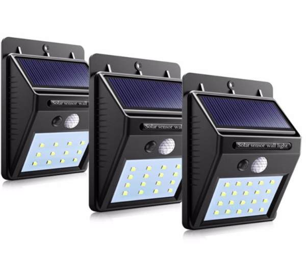 3pcs/lot 20 LED Waterproof LED Solar Power PIR Motion Sensor Wall Light Outdoor Street Yard Path Home Garden Security Lamp