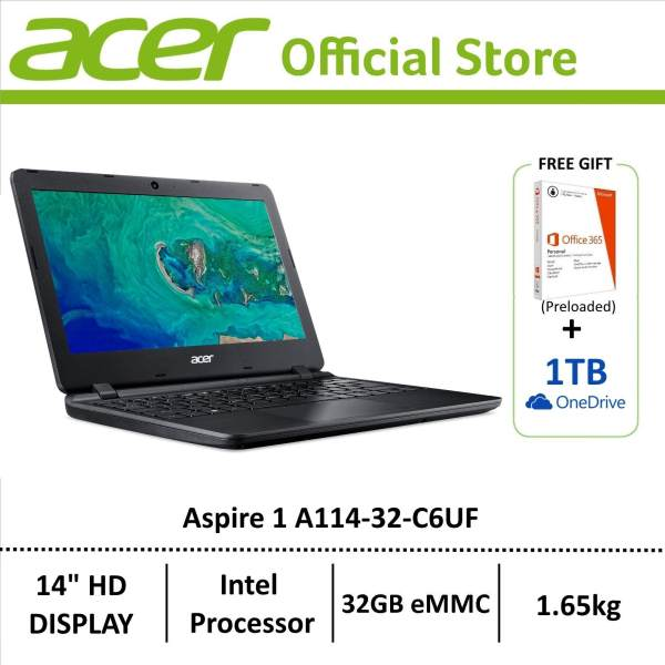 Acer Aspire 1 A114-32-C6UF (Black) 14-Inch Laptop - Preloaded Microsoft Office 365 Personal