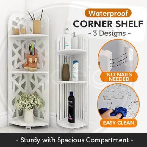 Contemporary Waterproof Corner Shelf / Organizer / Storage / 3 Design / Drawers