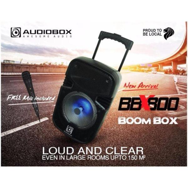 audiobox bbx800 boombox portable trolley speaker bluetooth free