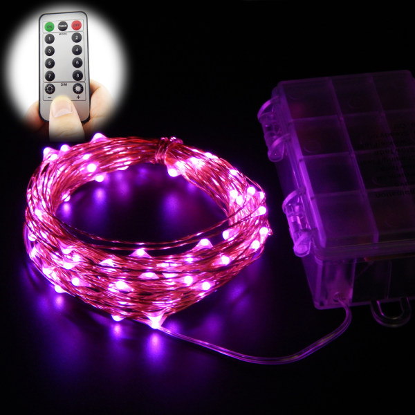 10m 100 leds 33ft 8 modes waterproof warm white battery operated led string lights fairy lights christmas lights with remote control