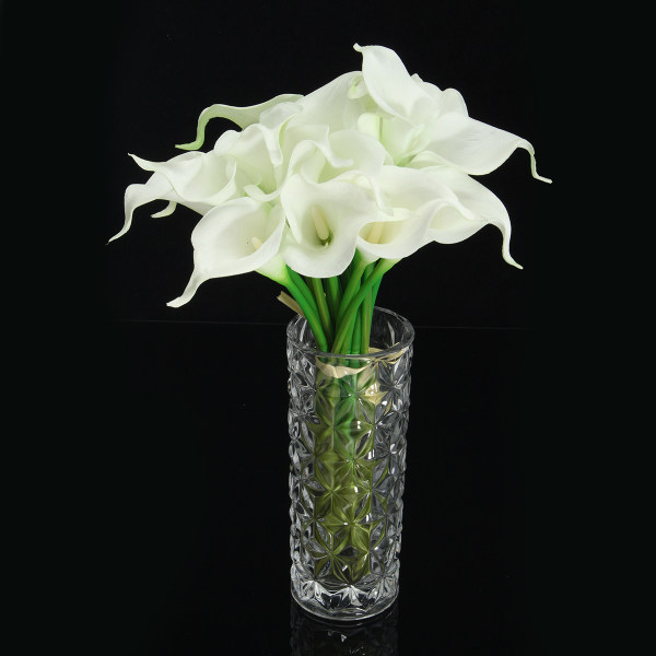 20 Heads Wedding Flower Latex Real Touch Silk Calla Lily Flower Wedding Decor - intl