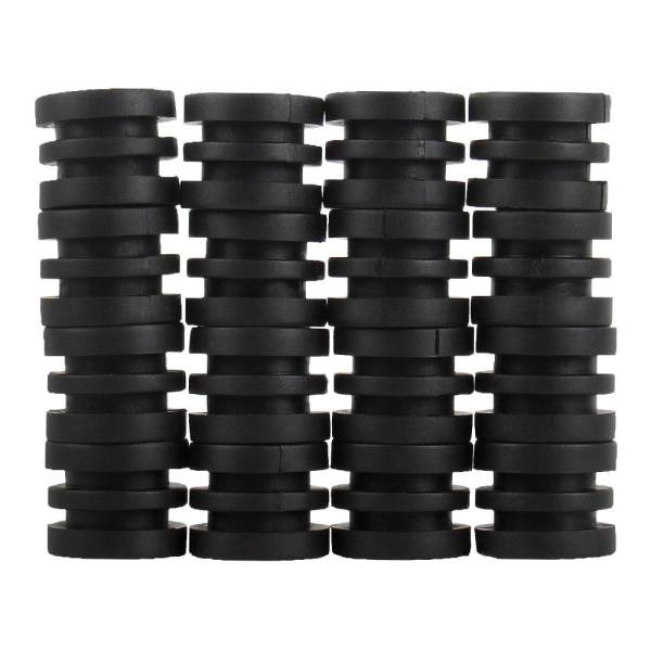 boobc Anticollision 5/8 Inch Foosball Rods Rubber Bumpers For Foosball Table (Black)