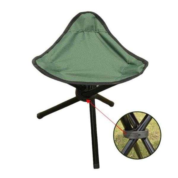 Erpstore Camping Folding Stool Portable 3 Legs Chair Tripod Seat Outdoor Oxford Cloth BU - intl