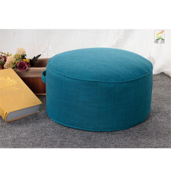 Cotton Linen Fabric Coaster Household Stool Tea Ceremony Floor Stool Washable Fabric Thick round throw pillow Futon