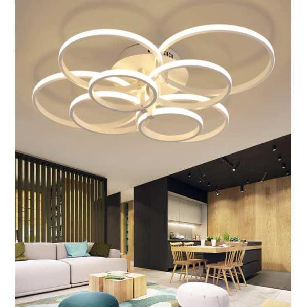 Modern Multi Circle LED Ceiling Light For Living Room (4 Lights)