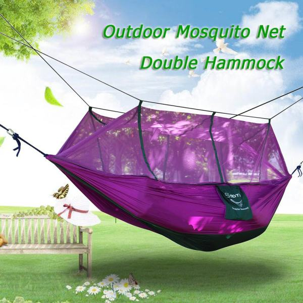 Mosquito Net Double Hammock Extra Strong Nylon Durable Compact Lightweight Outdoor Camping Hammock (EXPORT)