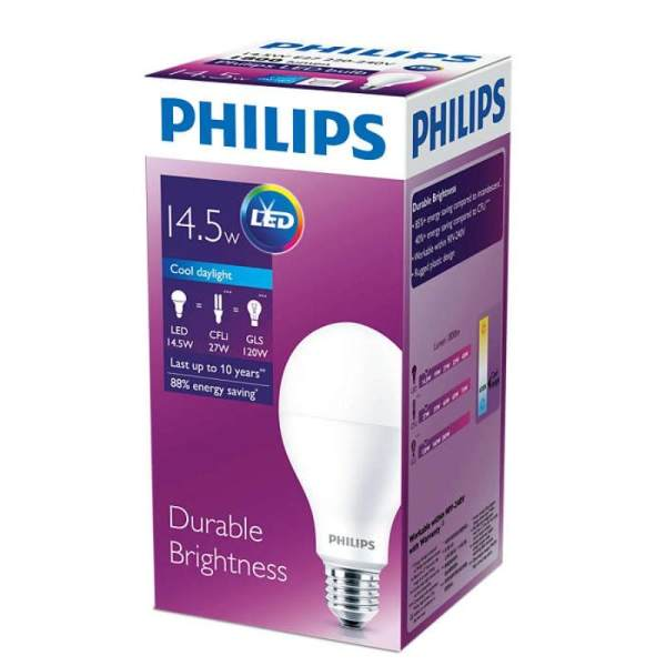 PHILIPS LED Bulb Durable Brightness 14.5W E27 220-240V Cool Daylight 8718696715420