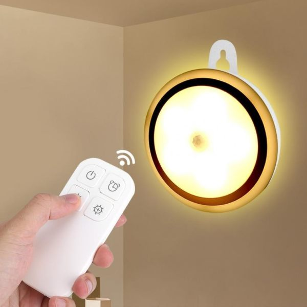 Wireless 5 LED Night Light Remote Control Lamp For Hallway Cabinet Closet  #Battery Powered   Intl Singapore