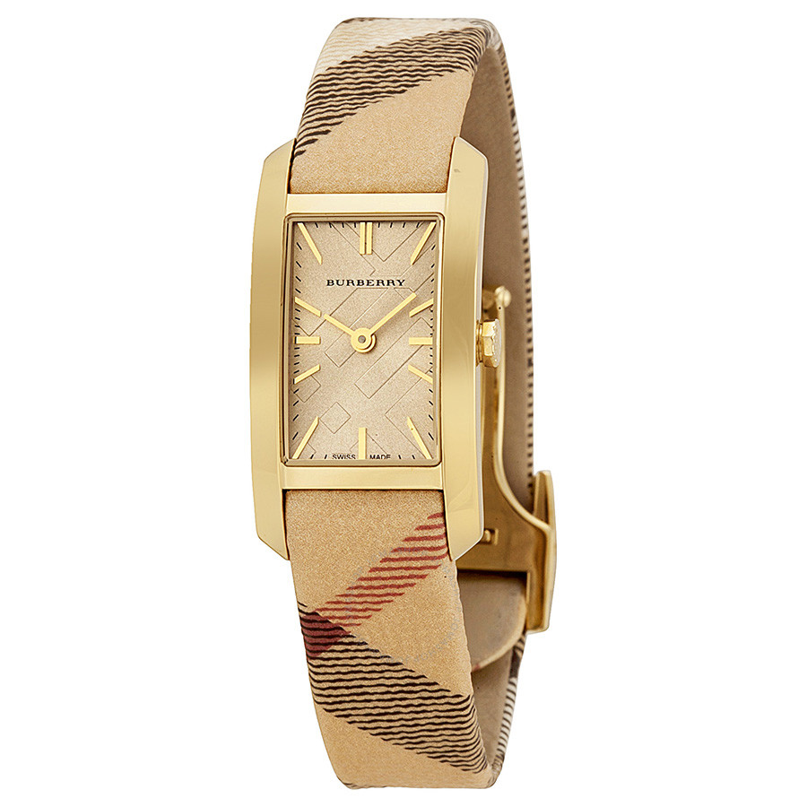 100% Orihinal Na Relo]Burberry Pioneer Gold Dial Gold Ion-plated Ladies  Watch BU9509   Lazada PH