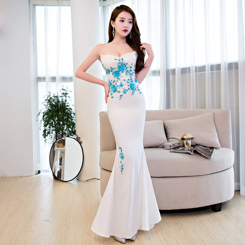 Elegant noble female New style banquet dress evening dress
