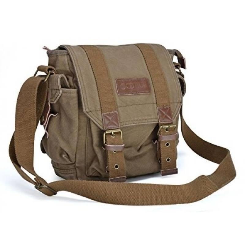 ff4780ce15 Gootium 21217AMG Vintage Canvas Messenger Bag Shoulder Bag
