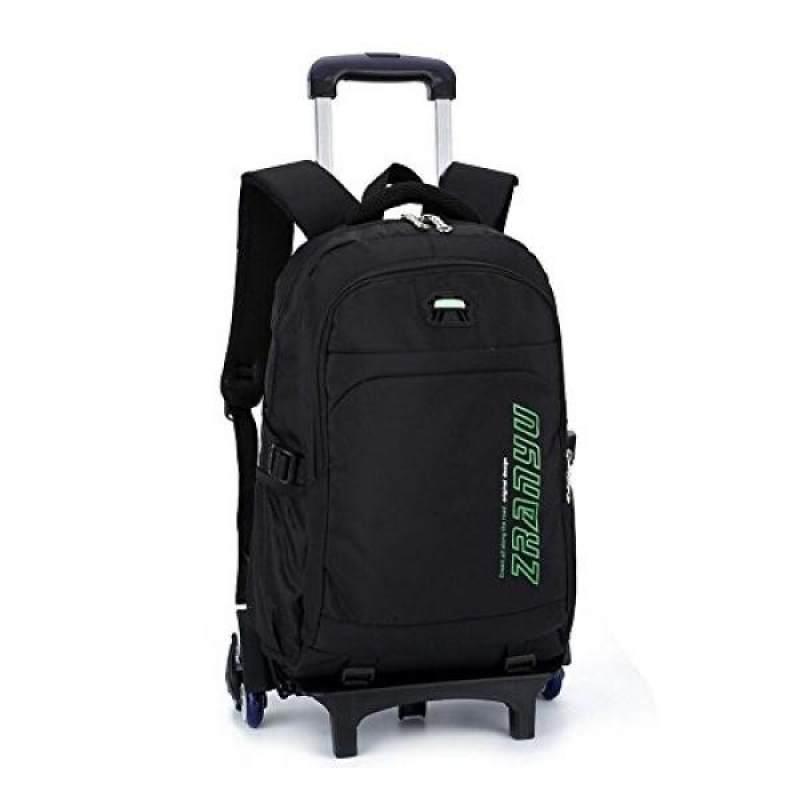 Yub Trolley School Bags Student Boys Rolling Backpack Schoolbag With Wheels Waterproof Green Six Intl