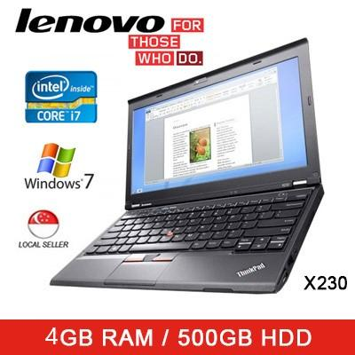 Refurbished Lenovo X230 Laptop / 12.5 Inch / Intel i7 / 4GB RAM / 500GB HDD / Window 7 / Thai KB / 1mth Warranty