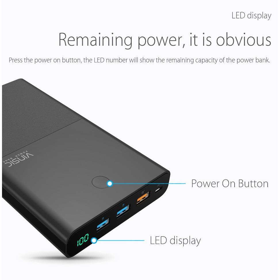 Vinsic® Terminator P3(S) QC 3.0 28000mAh Quick Charge Lithium Battery Power Bank
