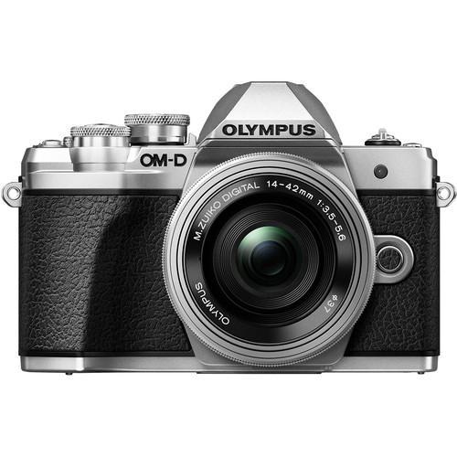 Olympus OM-D E-M10 Mark III Mirrorless Micro 4/3 Digital Camera with 14-42mm Lenses (silver)