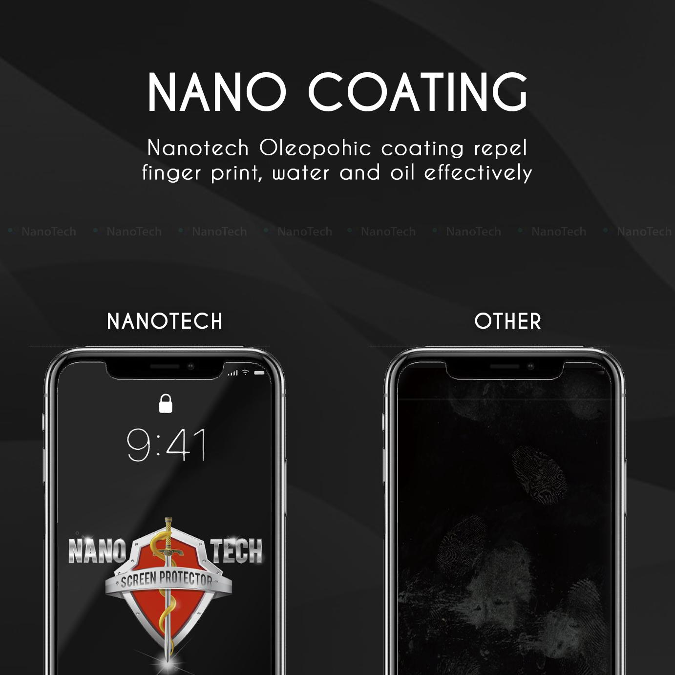 Nanotech iPhone XS Max Tempered Glass Screen Protector [0.2MM][Non-full Coverage]