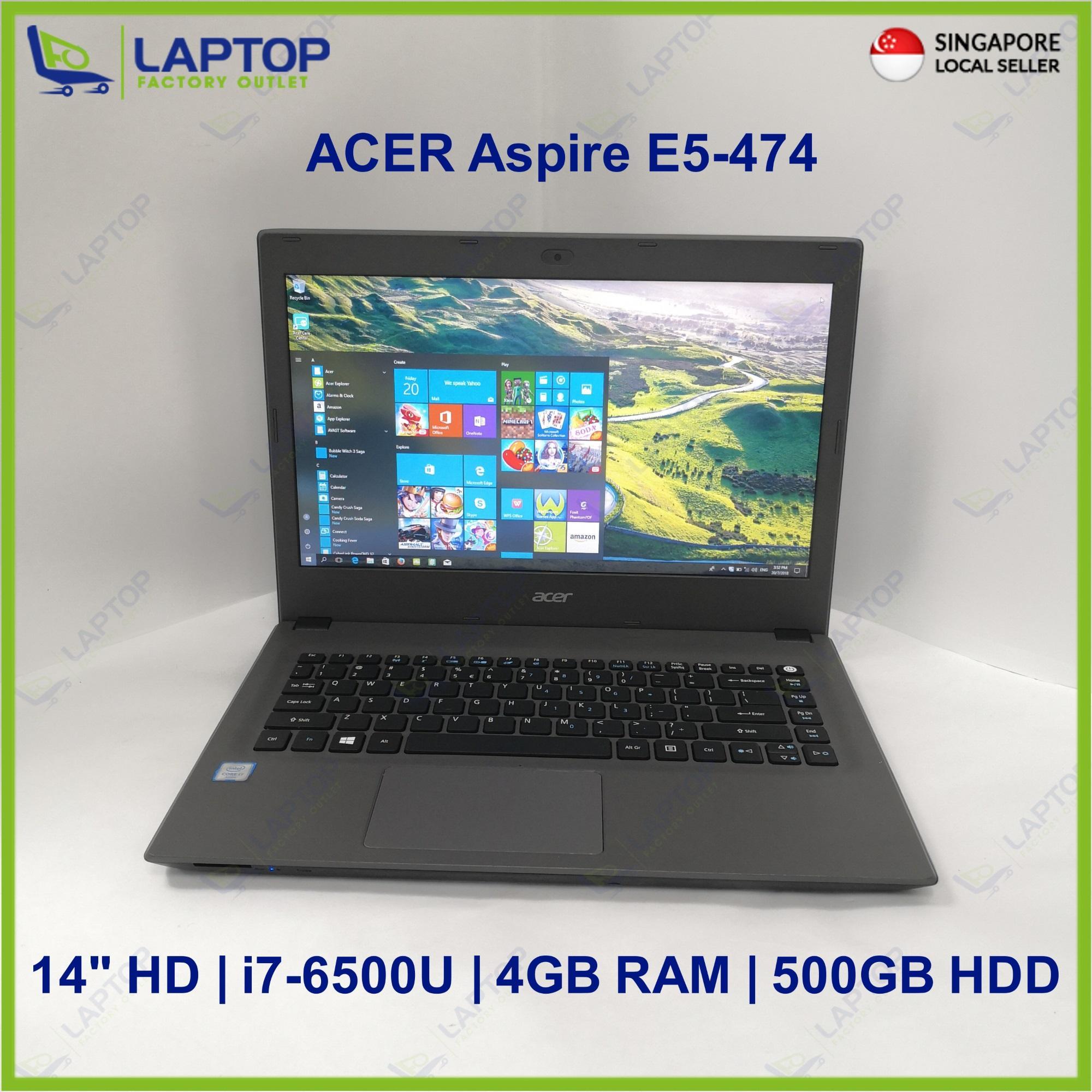ACER Aspire E5-474 (i7-6/4GB/500GB) Preowned [Refurbished]