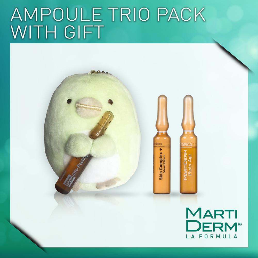 MartiDerm AmpouleTrio Pack with Sumikko Gurashi Gift Toy