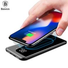 Baseus LCD 8000mAh QI Wireless Charger 2A Dual USB Power Bank For iPhone X 8 Samsung s9 Battery Charger