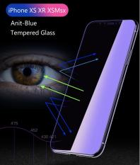 Anti-blue light Premium Tempered glass screen protector for iPhone X, iPhone XS, iPhone XS Max, iPhone XR, iPhone 8, iPhone 8 plus (Clear)