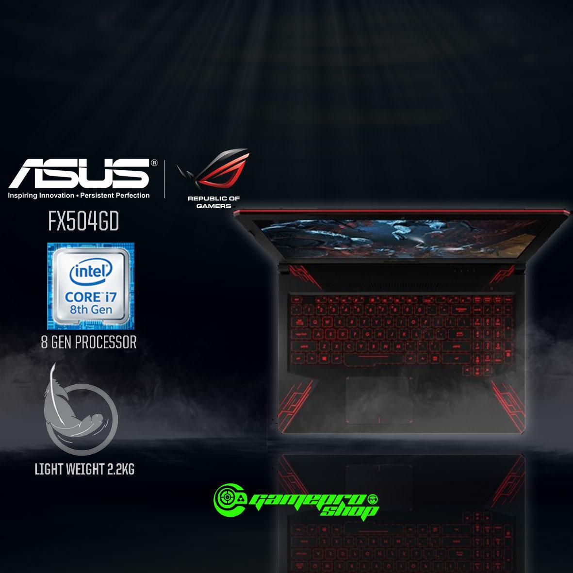 8th Gen ASUS FX504GD – E4335T (8th-Gen GTX1050 4GB GDDR5) 15.6″ Gaming Laptop *COMEX PROMO*