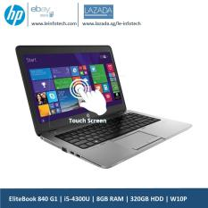 HP Elitebook 840 G1 Touchscreen Notebook 14in i5-4300U@1.9Ghz 4th Gen 8GB RAM 320GB HDD Win 10 Pro Used