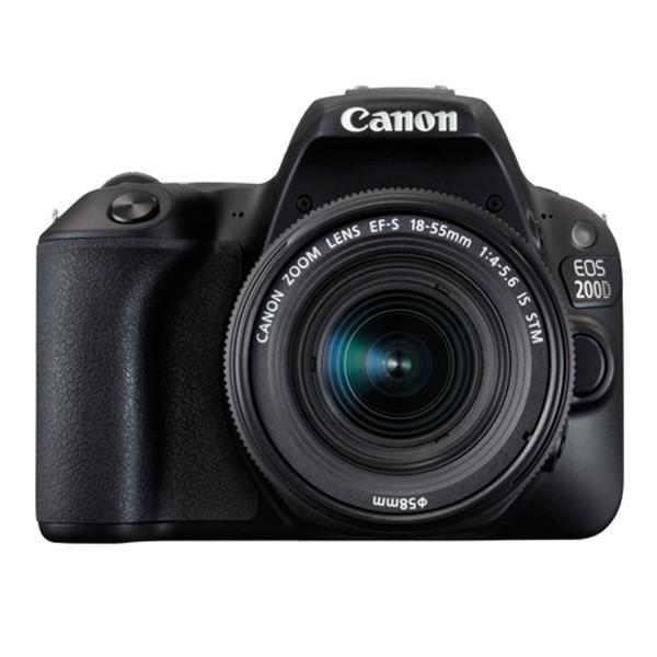Canon EOS 200D Digital SLR Camera with EF-S 18 – 55 mm f/4-5.6 IS STM Lens (Export)