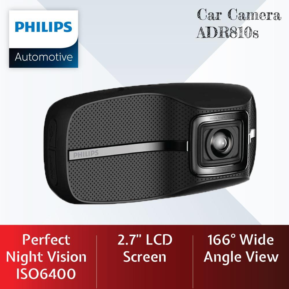 Philips Car Camera Dash Cam Driving Video Recorder ADR810s