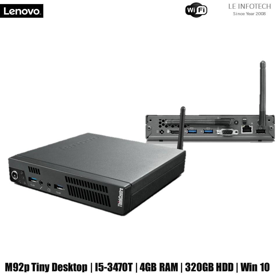 Lenovo ThinkCentre M92p Tiny i5 desktop intel Business Mini PC Core i5-3470T @2.9Ghz 4GB RAM 320GB HDD Wifi Win 10...