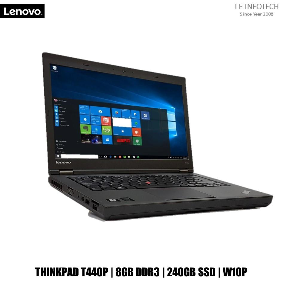 Lenovo ThinkPad T440P 14.1in LED Laptop i5-4300M #2.6Ghz 8GB DDR3 240GB SSD Win 10 Pro One Month Warranty Used