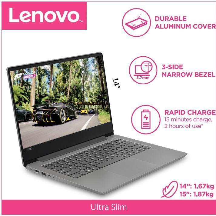 Lenovo IdeaPad 330S(Thin&Light)14.0 HD PLATINUM GREY I7-8550U 1 Year Local Warranty
