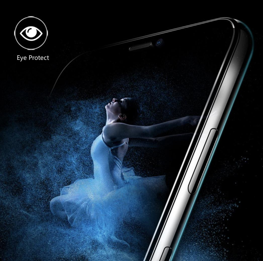 Anti-blue light Premium Tempered glass screen protector for iPhone X, iPhone XS, iPhone XS Max, iPhone XR, iPhone 8, iPhone...