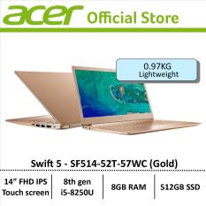 Acer Swift 5 SF514-52T-57WC(Gold) Thin & Light Laptop – Free Gift with purchase