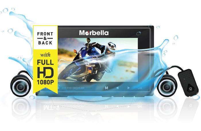 Marbella MT-I Waterproof 2xFHD Dash Car Camera