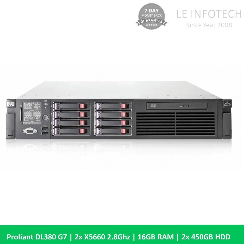 HP ProLiant DL380 G7 2U Rack server 16GB RAM 2x 450GB OEM SAS HDD One Month Warranty Used