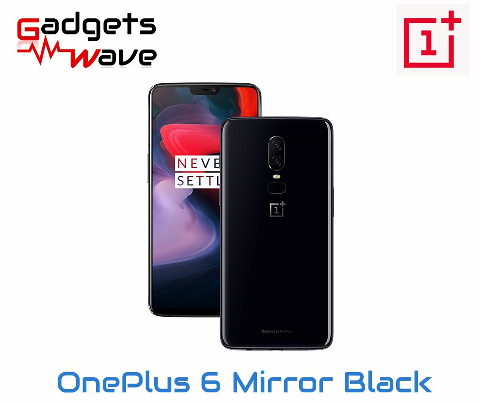 OnePlus 6 Mirror black A6003 128GB/8GB (Local Warranty) - Free Dash Cable