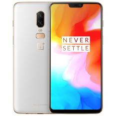 OnePlus 6 A6003 Silk White (8GB RAM+128GB ROM) – Free OnePlus 3D Tempered glass,Dash Charger, Cable, Karbon protective case & OTG cable. Bundle worth up to $165