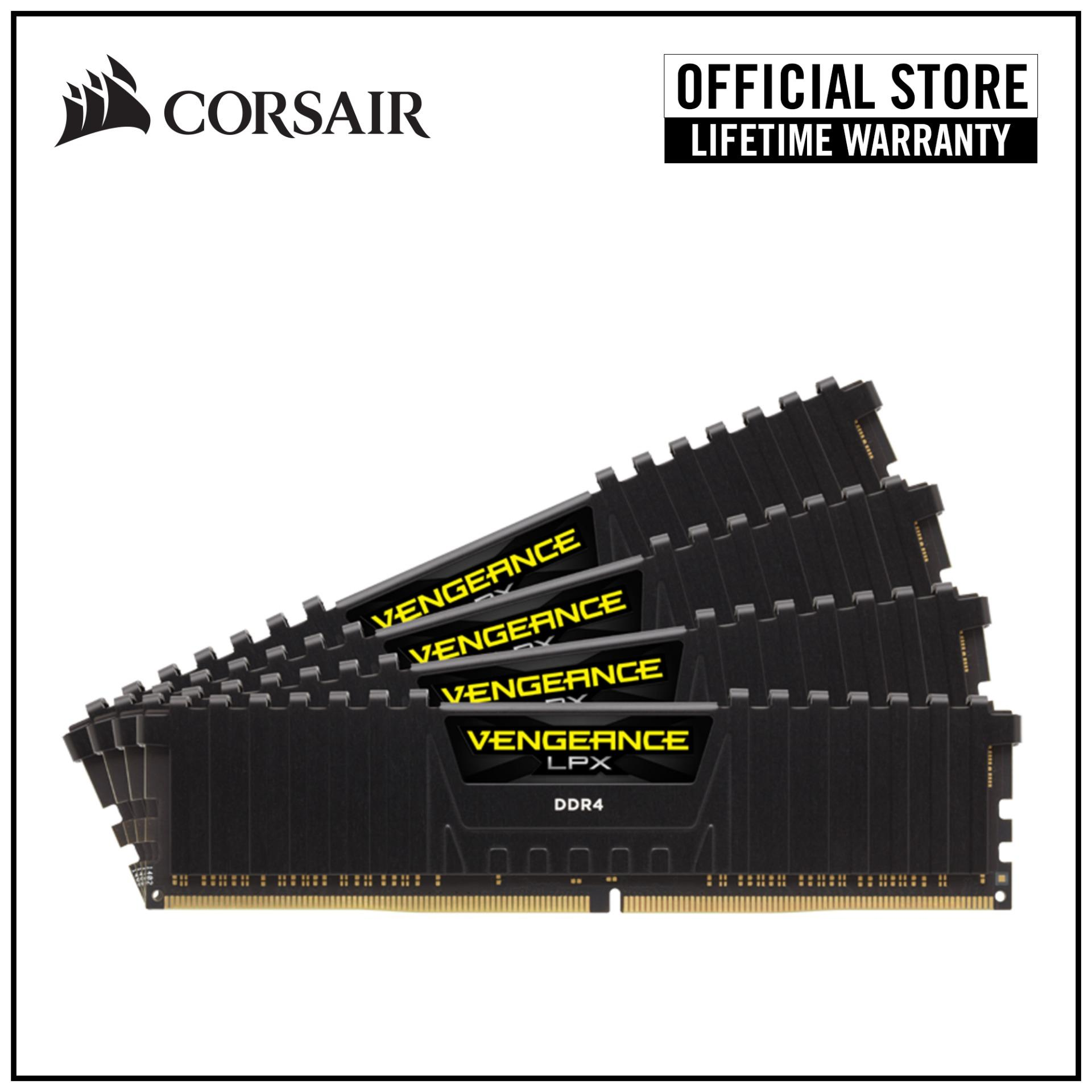 CORSAIR Vengeance LPX Ryzen Certified 32GB (4x8GB) DDR4 2933MHz C16 DIMM  Desktop Memory Kit - Black