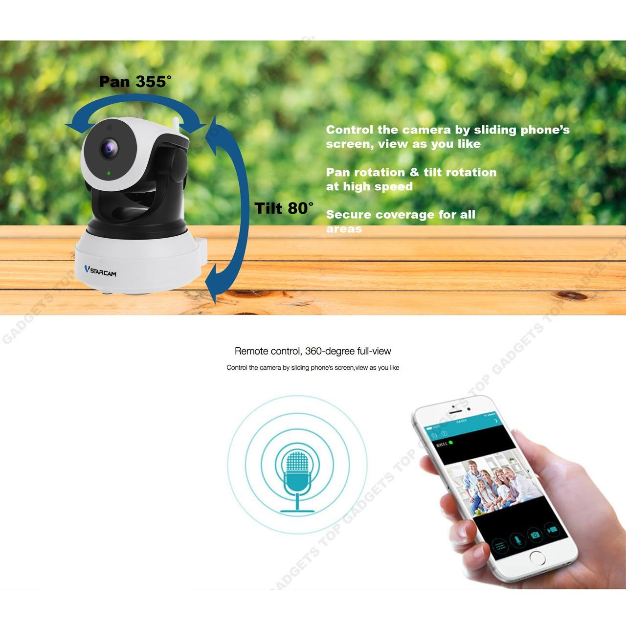 Vstarcam C7824WIP * SG SELLER * Latest 2018 Wireless IP Camera CCTV Camera 2 Way Communication