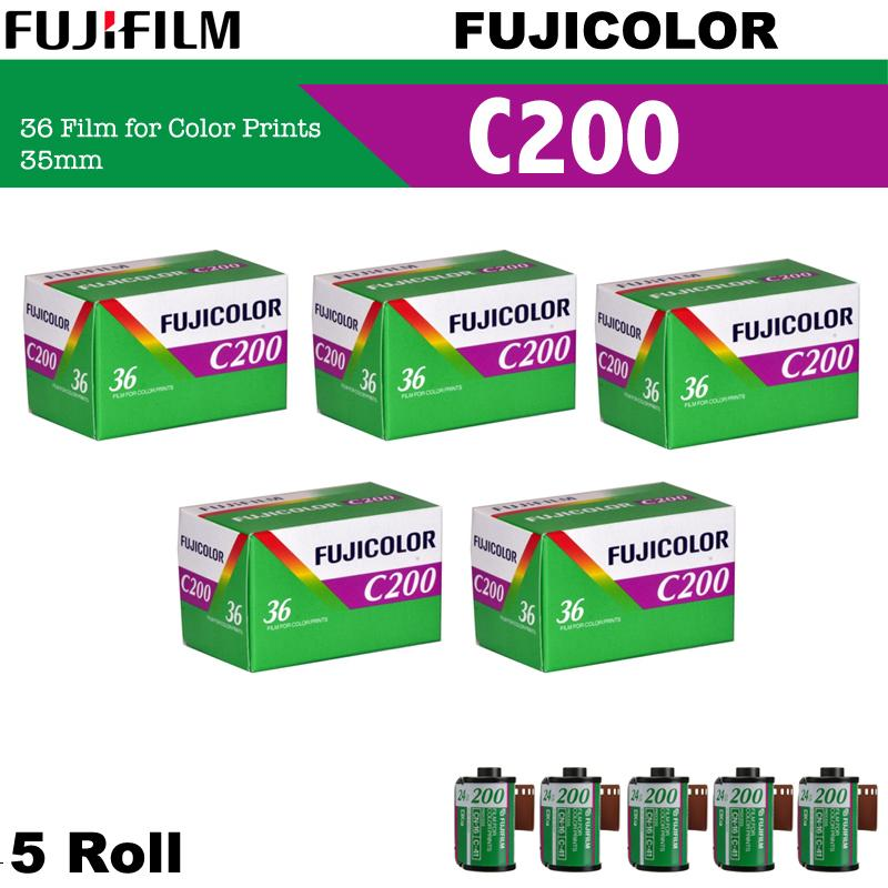 5 Roll Fujifilm Fujicolor C200 Color Negative 35mm 135 Roll Film ( 36 Exposures )