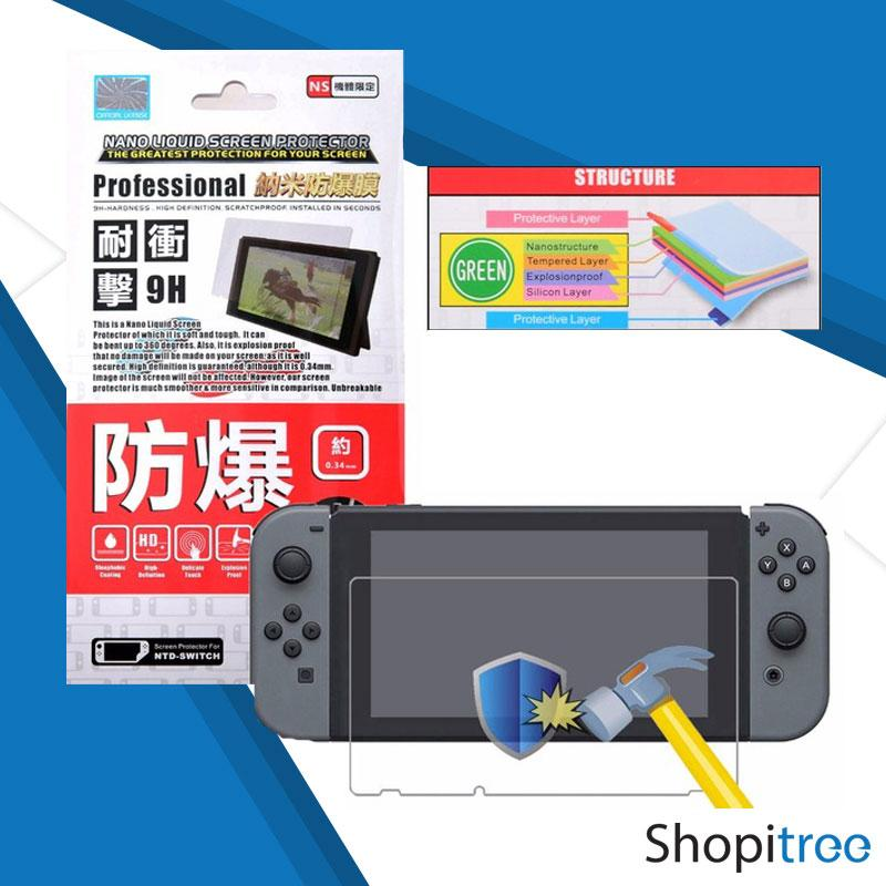 [Best Seller] PD Nano Liquid Hard Screen Protection Film for Nintendo Switch (0.34mm)