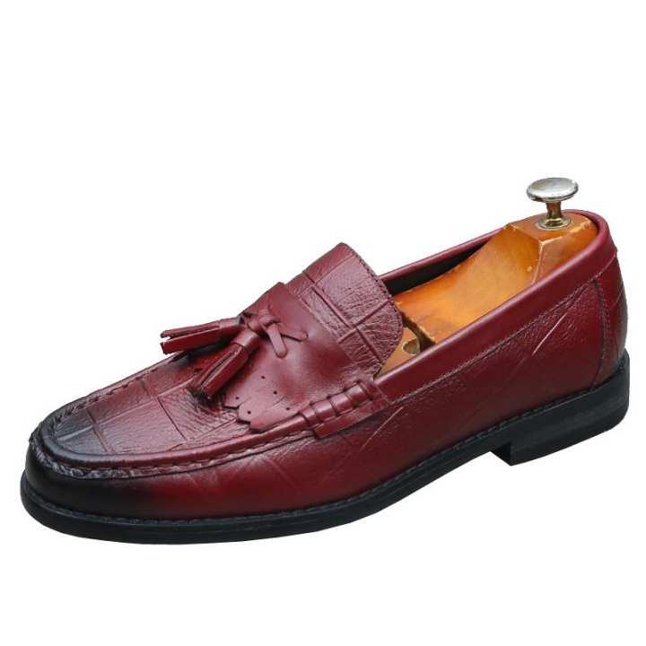 moccosins varvés loisirs pied couvrant des chaussures en cuir chaussures chaussures chaussures de cuir glands angleterre hommes haut un profil bas façon crocodile chaussures pédale f17380