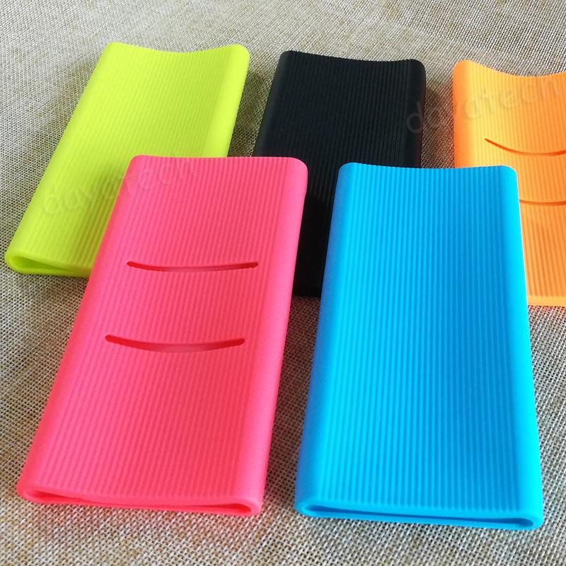 Silicone Case for Xiaomi NEW 10000 Gen2 – Dual USB Powerbank (PLM09ZM) † Protective Sleeve Casing Mi Power Bank External Portable Battery Protection Casing Cover Anti Slip Anti Drop Soft Cases Length – 150 mm