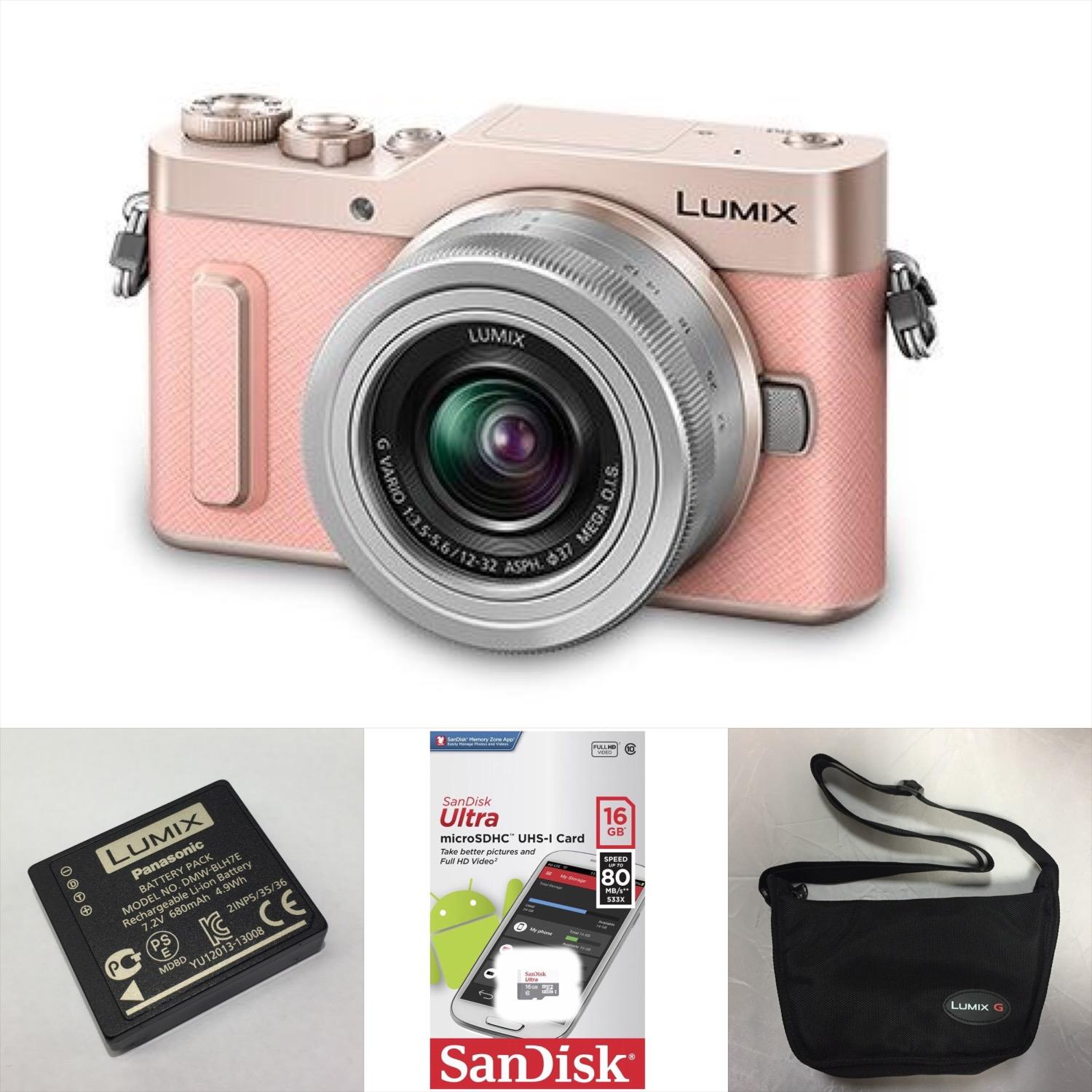 Panasonic Lumix DC-GF10 Micro Four Thirds Mirrorless Camera with 12-32mm Lens (Pink)