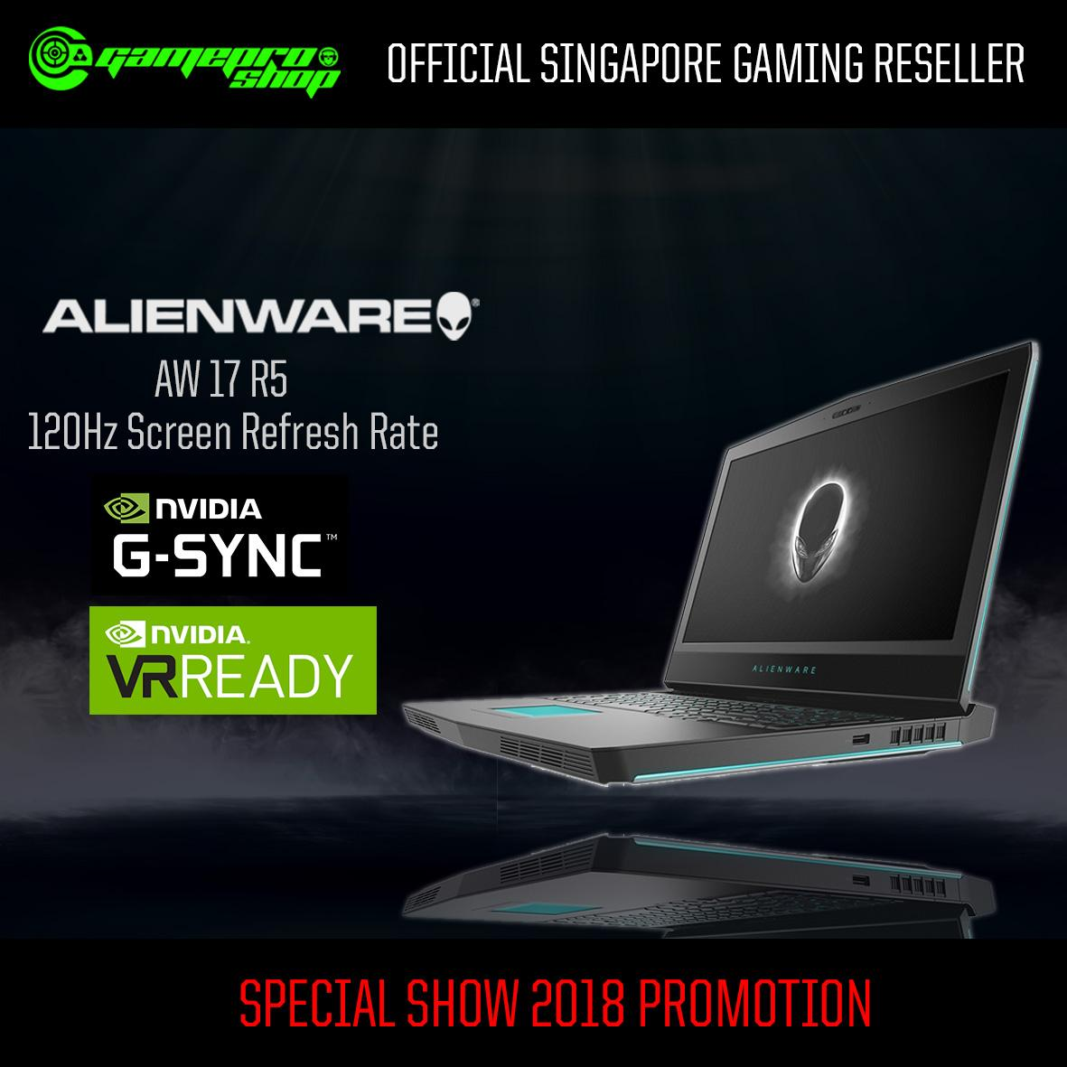 Alienware AW17 R5 -875Q118G-W10-1070 (i7-8750H/ 16GB/ 256GB SSD +1TB/ NVIDIA GTX 1070/ 17.3″ QHD/ Win 10) with 120Hz *END OF MONTH PROMO*