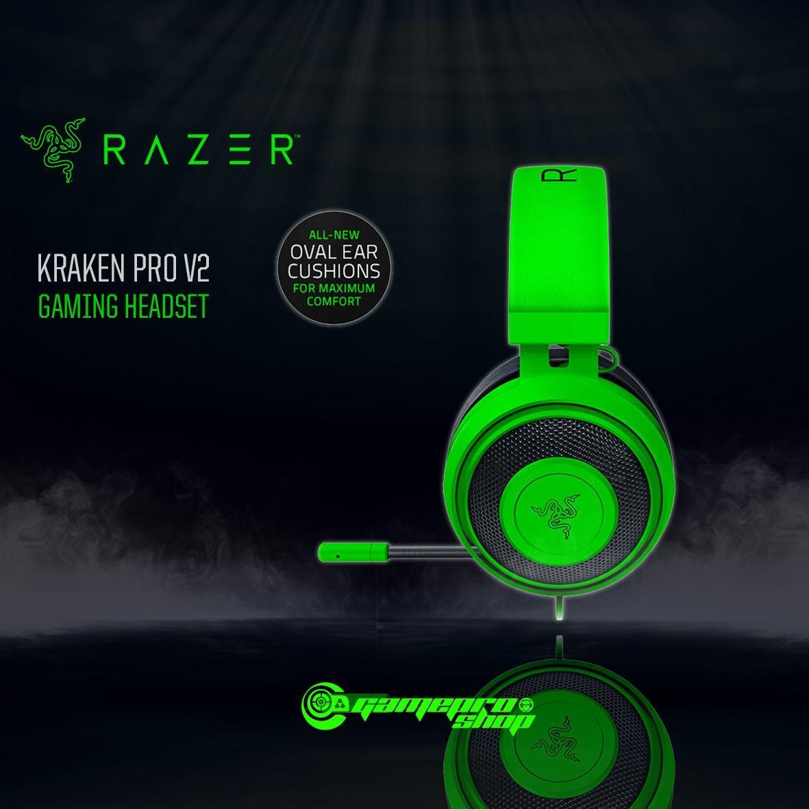 Razer Kraken PRO V2 Gaming Headset – GREEN (OVAL EAR CUSHIONS) *10.10 PROMO*